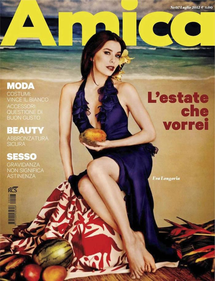 Eva Longoria en la revista italiana Amica