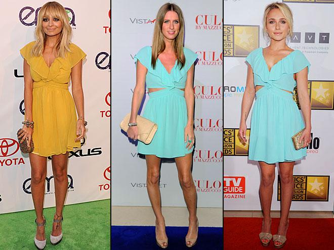 Hayden Panettiere, Nicole Richie, Nicky Hilton