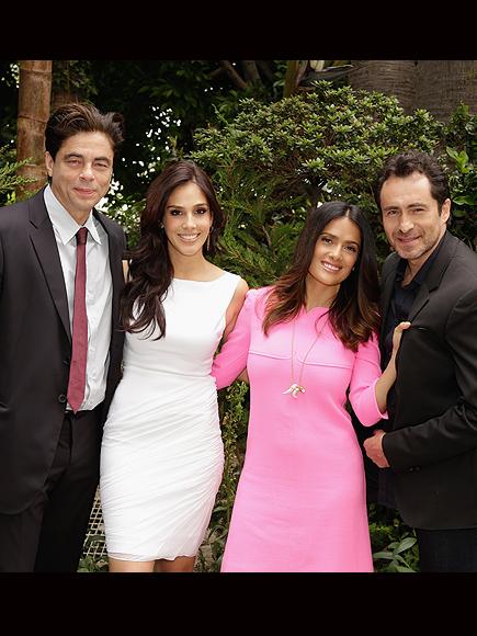 Salma Hayek, Benicio Del Toro, Demián Bichir and Sandra Echeverria