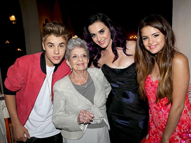 Justin Bieber, Selena Gómez, Katy Parry