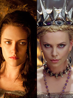 Snow White and the Huntsman, Charlize Theron, Kristen Stewart