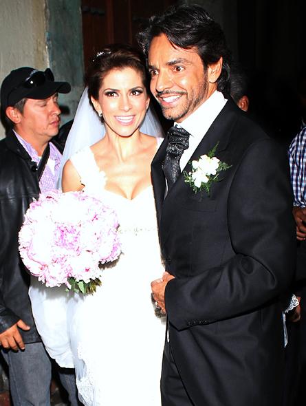 Eugenio Derbez y Alessandra Rosaldo en su boda