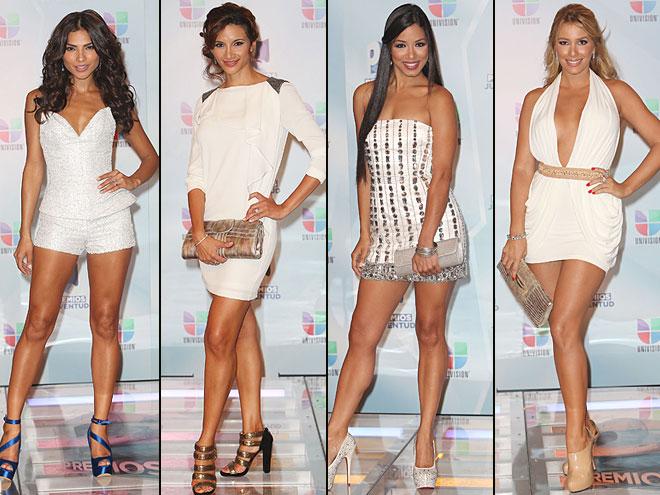 Alejandra Espinoza, Argelia Atilano, Shalimar Rivera, Elizabeth López, Premios Juventud 2012