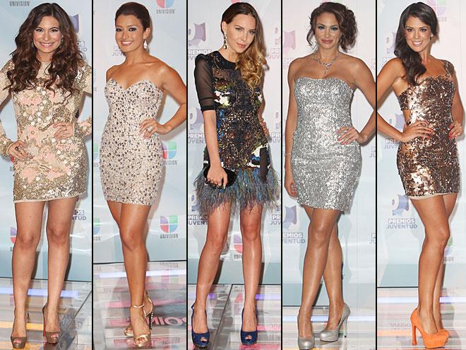 Ana Brenda Contreras, Antonieta Collins, Belinda, Carolina Ramírez, Patricia de León, Premios Juventud 2012