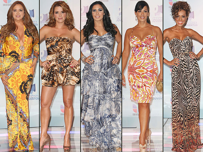 Jessica Fox, Alicia Machado, Madai, Marisa del Portillo, Marger, Premios Juventud 2012
