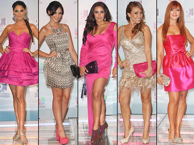 Blanca Soto, Norka, Amber, Alexandra Pomales, Nadia Escobar, Premios Juventud 2012