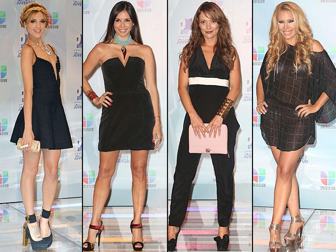 Eiza González, Giselle Blondet, Carolina Acevedo, Jimena Gallego, Premios Juventud 2012
