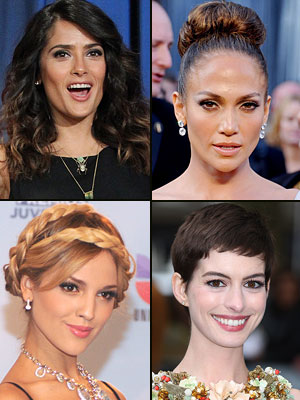 El peinado de la temporada, Salma Hayek, Jennifer López, Eiza González, Anne Hathaway