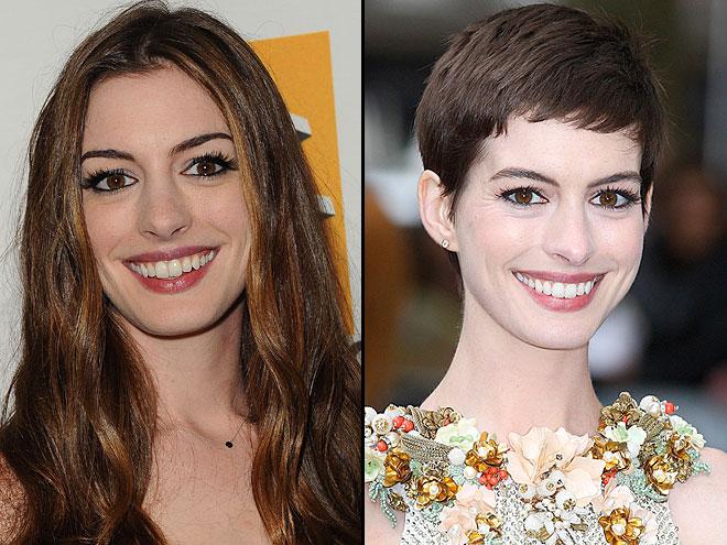 Anne Hathaway, Largo vs. corto