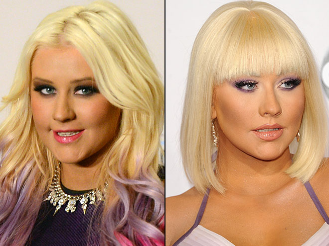 Christina Aguilera, cambios de look
