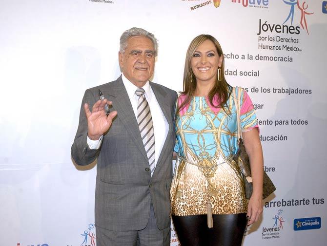 Eric del Castillo y su hija Verónica