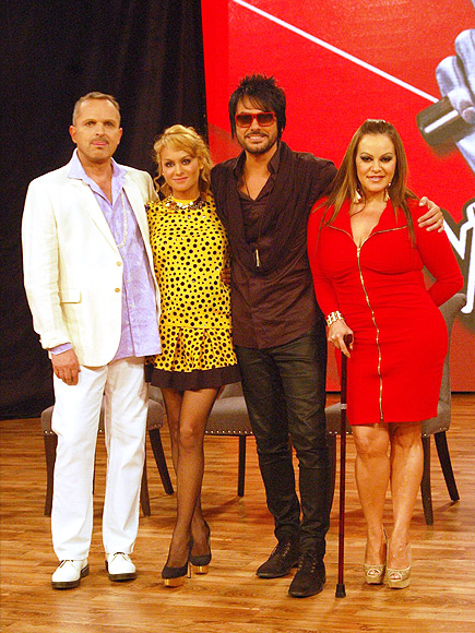 Miguel Bosé, Paulina Rubio, Beto Cuevas, Jenni Rivera