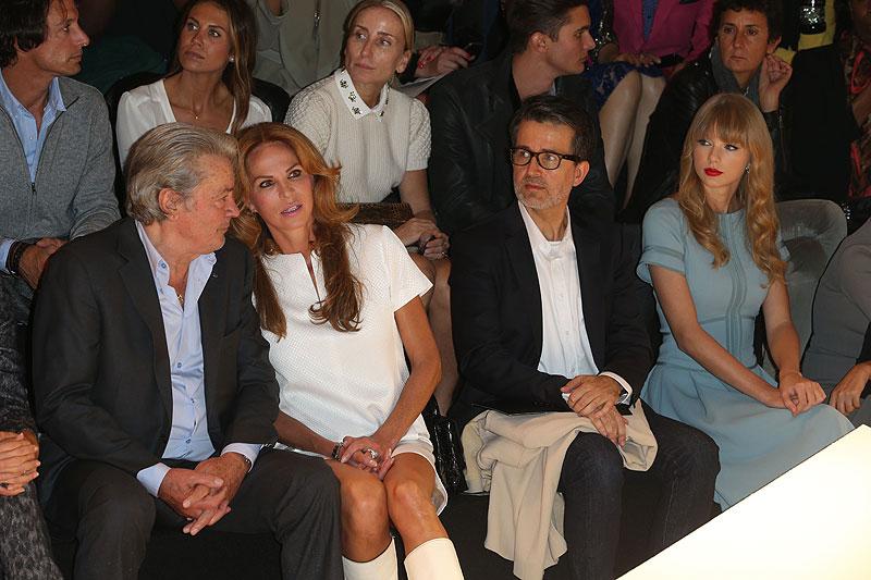 Celebridades en la Semana de la Moda de París, Alain Delón, Taylor Swift