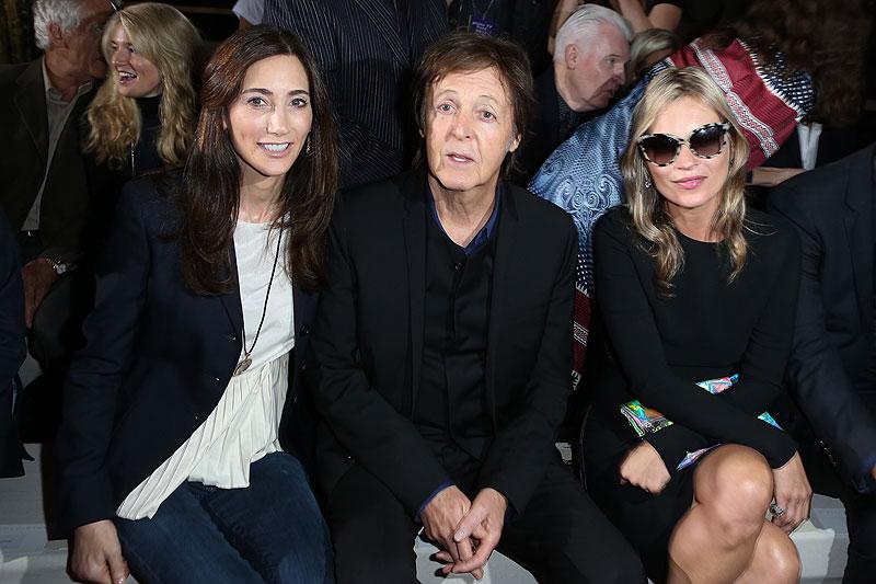 Celebridades de la Semana de la Moda en París, Paul McCartney, Nancy Shevell, Kate Moss