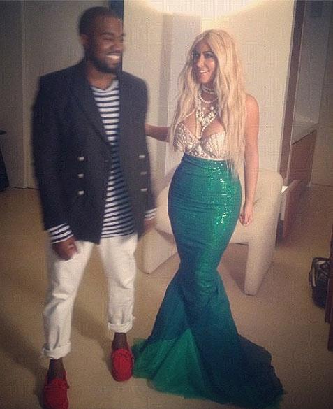 Kanye West, Kim Kardashian, Halloween 2012