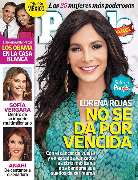 Lorena Rojas, portada People en Español noviembre 2012