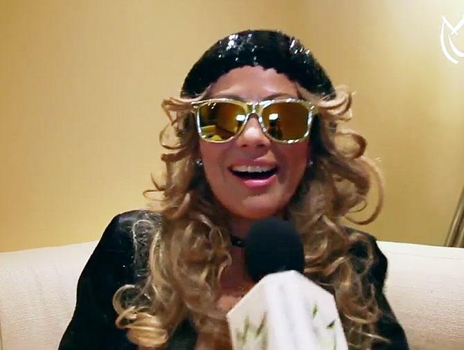 Samia imita a Paulina Rubio