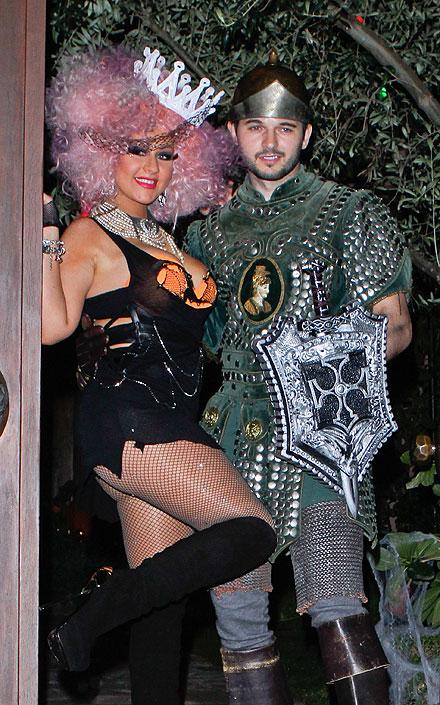 Christina Aguilera, Matthew Rutler, Halloween