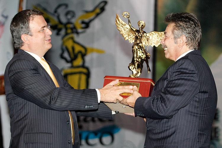 Homenaje a Jorge Ortiz de Pinedo, Marcelo Ebrard