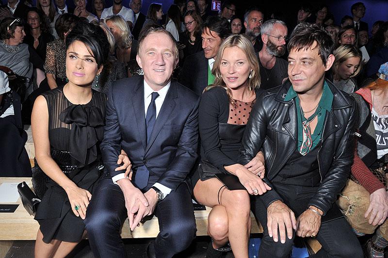 Semana de la Moda en París, Salma Hayek, Kate Moss