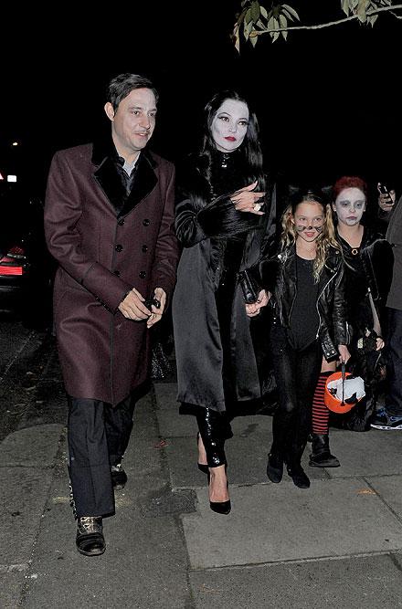 Kate Moss, Jamie Hince, Lila Grace, Halloween