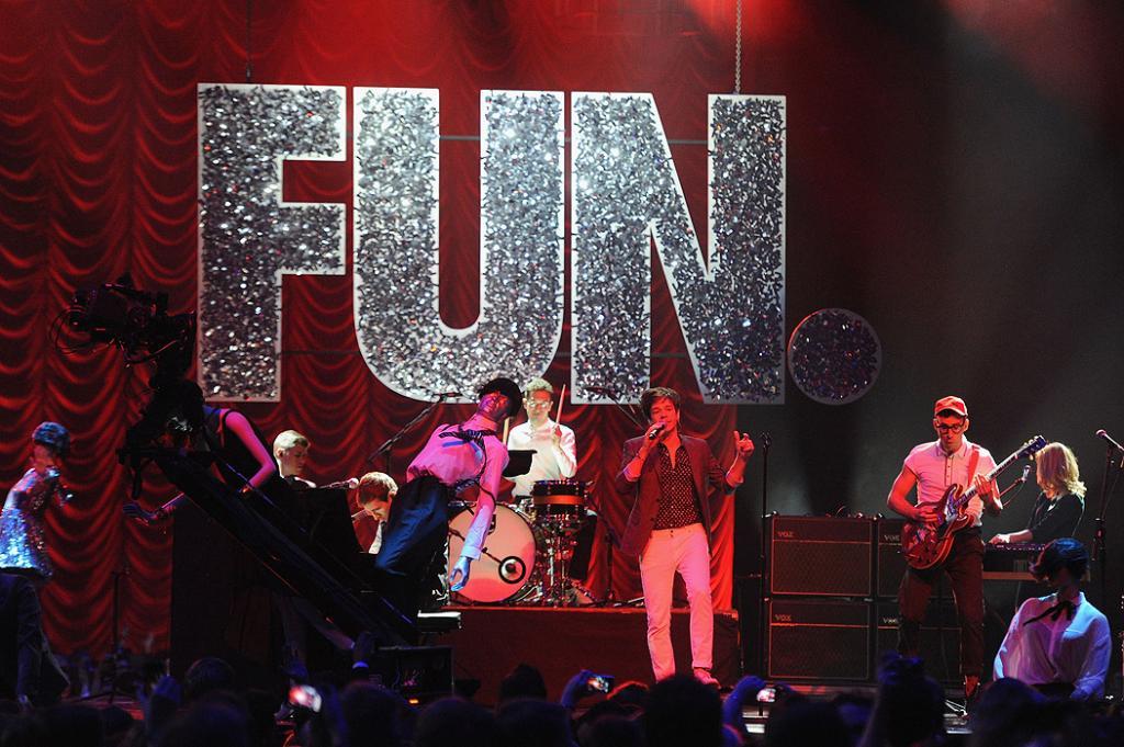 Andrew Dost, Jack Antonoff, Nate Ruess, Fun. MTV EMA 2012