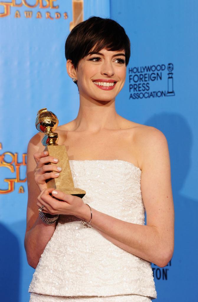 Anne Hathaway, Golden Globes, Globos de Oro, 2013
