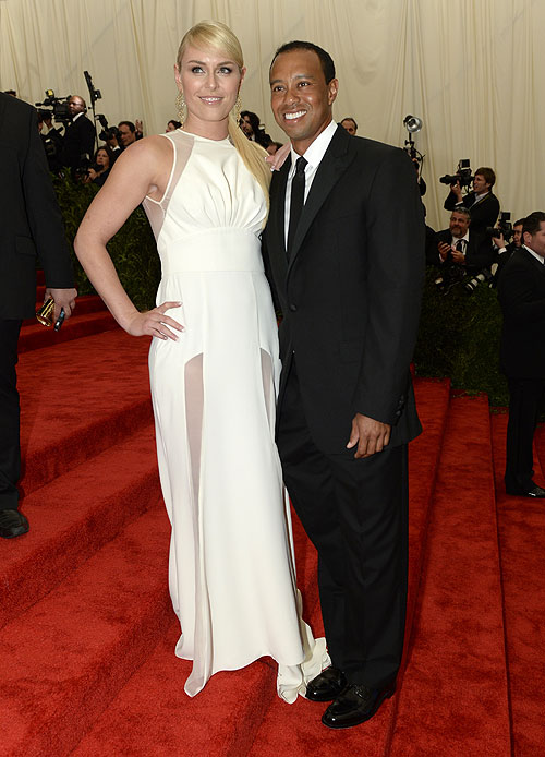 Lindsey Vonn, Tiger Woods, gala, Met