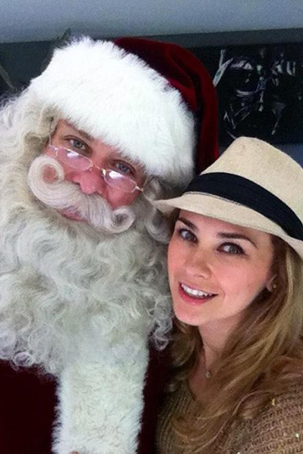 Famosos con Santa