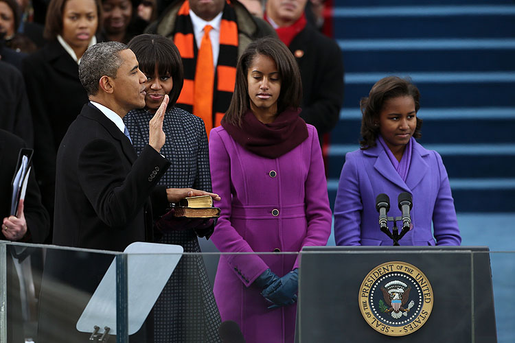 Barack Obama, Sasha Obama, Malia Obama, Michelle Obama