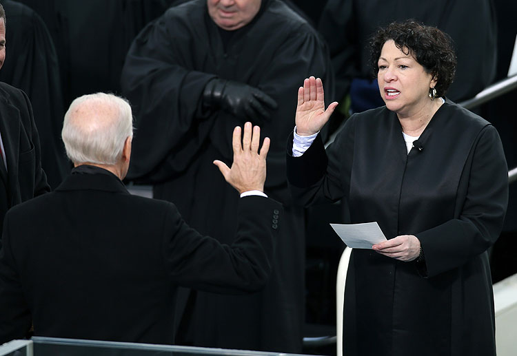 Sonia Sotomayor, Joe Biden