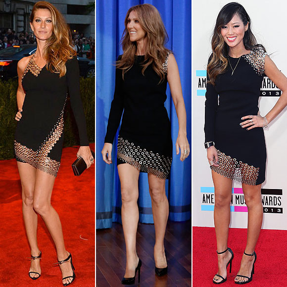 Gisele Bündchen, Celine Dion, Aimee Song, Dos mujeres
