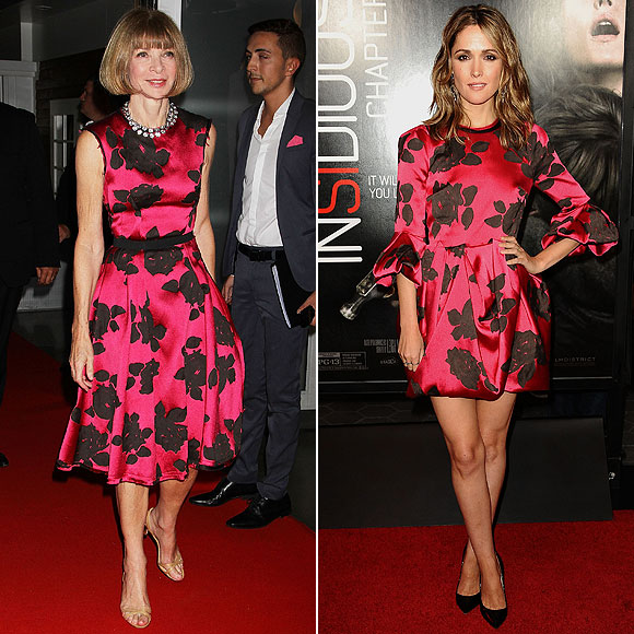 Anna Wintour, Rose Byrne, dos mujeres