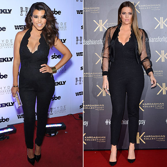 Kourtney Kardashian, Khloé Kardashian, Dos mujeres