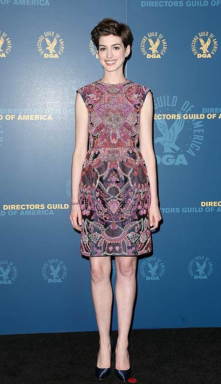 Anne Hathaway, Look del día