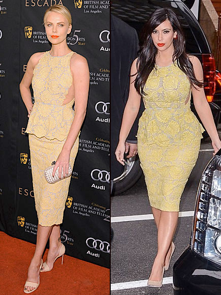 Charlize Theron, Kim Kardashian, Dos mujeres