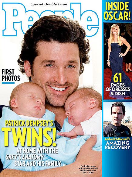 Patrick Dempsey, Darby Galen, Sullivan Patrick Dempsey, embarazos de gemelos