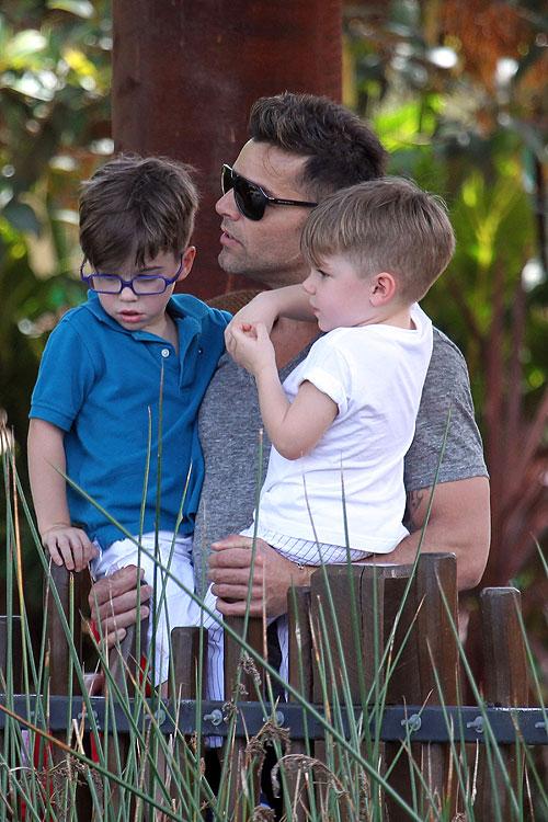 Ricky Martin, mellizos, Matteo, Valentino, zoológico, Australia