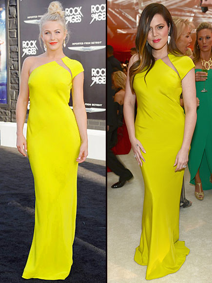 Julianne Hough, Khloe Kardashian, Dos mujeres