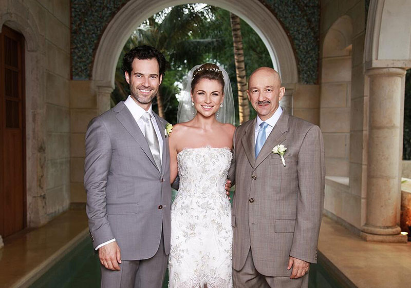 Emiliano Salinas, Ludwika Paleta, Carlos Salinas de Gortari, boda