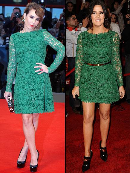 Noomi Rapace, Khloe Kardashian, Dos mujeres