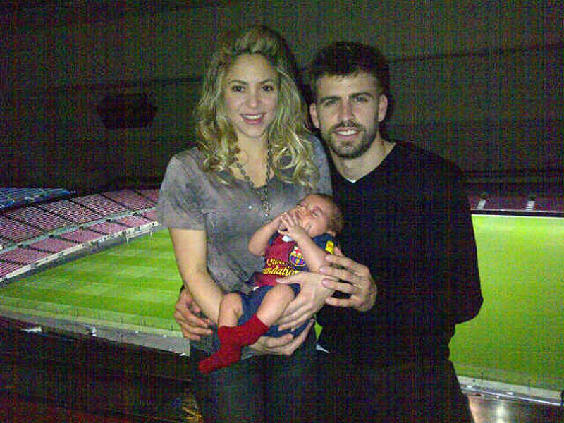Shakira, Gerard Piqué, Milan