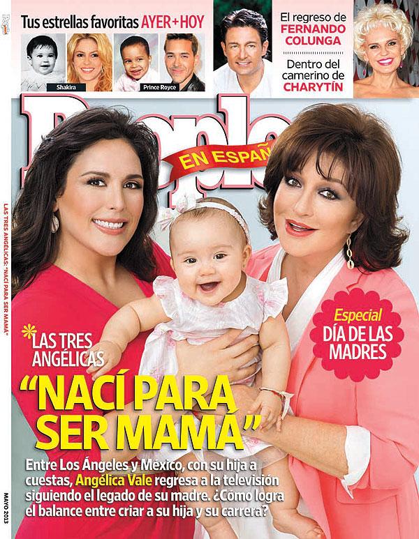 Angélica Vale, Angélica María, Angélica Masiel, portada, mayo, 2013