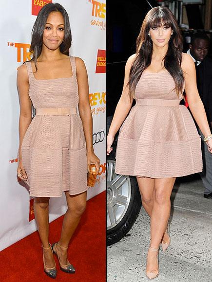 Zoë Saldaña, Kim Kardashian, Dos mujeres