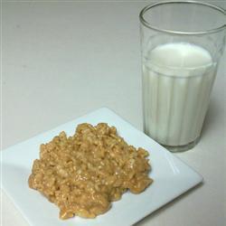 Barras de hojuelas de maíz con crema de cacahuate