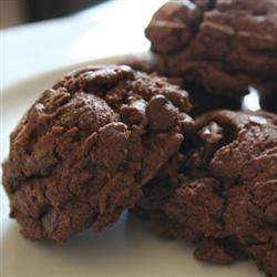 Galletas de chocolate con chispas de chocolate y nuez