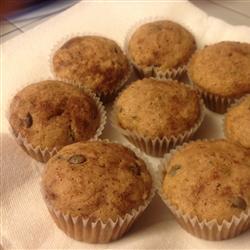Muffins de calabacita y chocolate