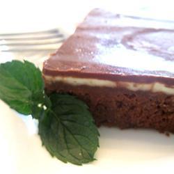 Brownies con crema de menta