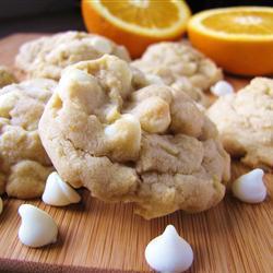 Galletas de chocolate blanco y naranja