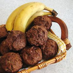 Muffins de platano con chispas de chocolate